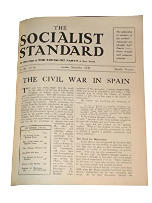 THE SOCIALIST STANDARD: The Official Organ of the Socialist Party of Great Britain, Jan. 1936- Dec....