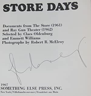 Store Days: Documents from the Store (1961) and Ray Gun Theater (1962): OLDENBURG, Claes; Williams,...