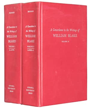A Concordance to the Writings of William Blake [2 Vol.]: ERDMAN, David V. (edited by)