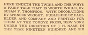 The Twins and the Whys: A Fairy Tale Worth While: THOMPSON, Susan F.