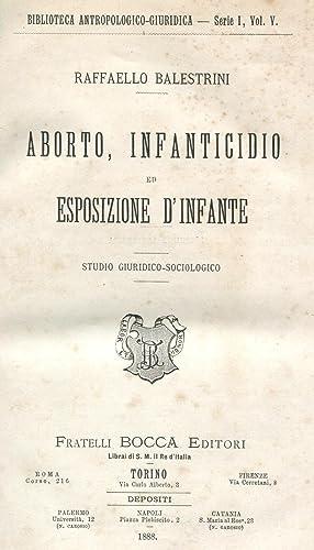 Aborto, Infanticidio ed Esposizione D'Infante (Biblioteca Antropologico-Giuridica - Serie 1, ...