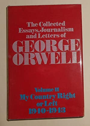 the collected essays journalism and letters of george orwell amazon My country right or left 1940-1943: the collected essays journalism & letters of george orwell (collected essays journalism and letters of george orwell) by sonia orwell (2000) flag like see review.