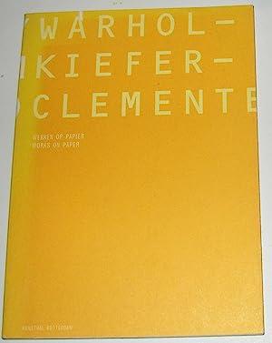 Warhol - Kiefer - Clemente - Works: SINDEREN, Wim van
