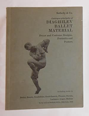 Catalogue Principally of Diaghilev Ballet Material Decor: DIAGHILEV, Serge ]