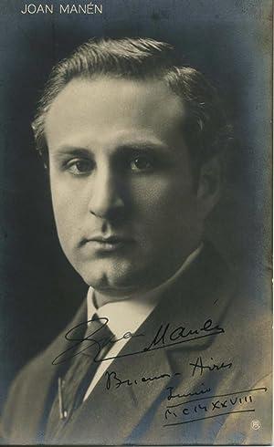 Signed Postcard Photo. 1928.: MANEN, Juan