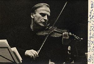 Signed Photo From a Rehearsal: MENUHIN, Yehudi