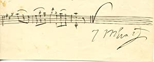 Autograph Musical Quotation Signed: ERNST, Heinrich Wilhelm