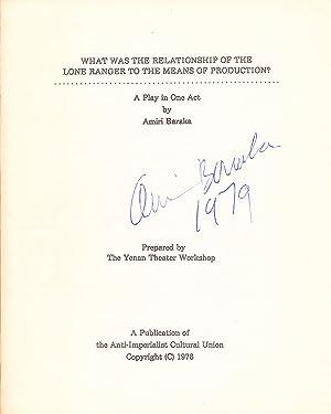 """Two Signed Books: """"Slave Ship,"""" soft cover,: BARAKA, AMIRI/ LEROI"""