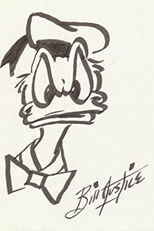 Two Original Signed Sketches, one of Donald Duck and one of Goofy, each on verso of 3 x 5 index c...