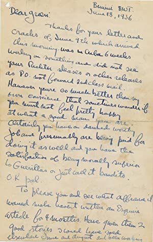 Outstanding Autograph Letter Signed, 6 pp on: HEMINGWAY, ERNEST