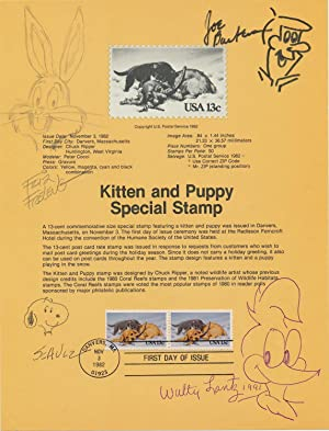 Signed Original Cartoon Sketches by the creators of their well known cartoon characters 8 x 10 in...