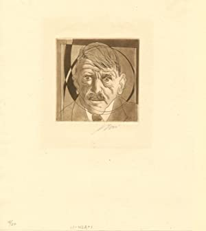 Original Color Etching on China Paper, Signed in pencil, numbered 18/30; image measures 4 x 5 inc...