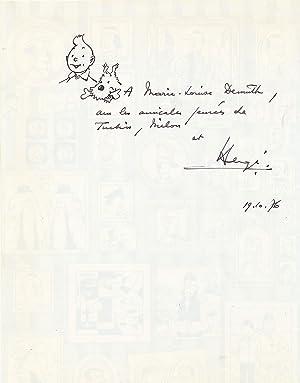 Original sketch of Tintin and Milou [Snowy],: HERGÉ [Georges Prosper