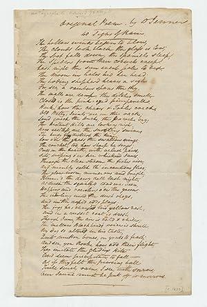 Autograph Manuscript Signed, 8vo, n.p., ca. 1790-1822: JENNER, EDWARD