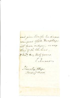 Superb Autograph Letter Signed, 2 pp, on: JENNER, EDWARD