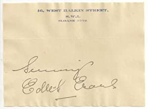 Edith Mary Evans: Autograph / Signature, dated July 19th, 1930.: EVANS, Dame EDITH MARY 1888-...
