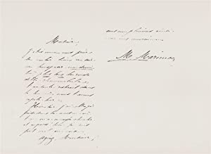 Two page undated autograph letter to an unknown recipient in French from the French soprano, Marie ...