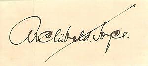 Autograph / signature of the English dance-band: JOYCE, ARCHIBALD 1873-1963