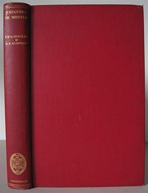 Johannes de Mirfeld of St. Bartholmew's: His Life and Works.: Mirfeld, Johannes De d.1407] ...