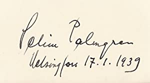 Autograph / signature of the Finnish composer Selim Palmgren. Dated Helsinfors 17.1.1939.: ...