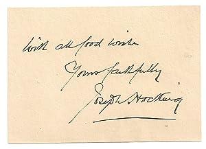 Joseph Hocking: Autograph / Signature.: HOCKING, JOSEPH 1860-1937.