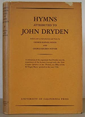 Hymns Attributed to John Dryden. Edited with an Introduction and Notes.: DRYDEN, JOHN 1631-1700. ...