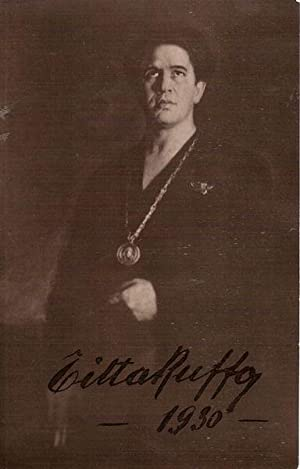 Autograph / signed photograph-postcard of the Italian baritone Titta Ruffo. Dated 1930.: RUFFO...