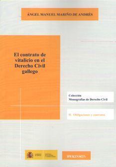 CONTRATO VITALICIO EN EL DERECHO CIVIL GALLEGO, EL - MARIÑO DE ANDRES, Angel Manuel
