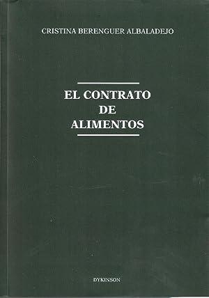 CONTRATO DE ALIMENTOS, EL Berenguer: BERENGUER ALBADALEJO, Cristina
