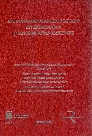 ESTUDIOS DE DERECHO PRIVADO EN HOMENAJE A JUAN JOSE RIVAS MARTINEZ 2 TOMOS: AGUSTIN ...