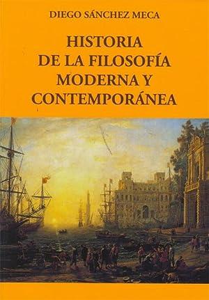 HISTORIA FILOSOFIA MODERNA Y CONTEMPORANEA: SANCHEZ MECA, Diego