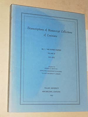 Transcriptions of Manuscript Collections of Louisiana No.: Griffith, Connie G.