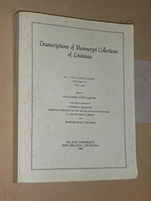 Transcriptions of Manuscript Collections of Louisiana No.: Falcon, Guillermo Nanez