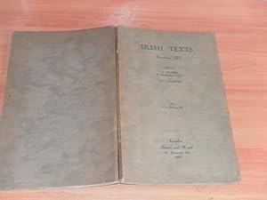Irish Texts Fasciculus III: Fraser, J. Grosjean,