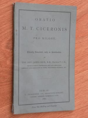 Oratio M.T. Ciceronis Pro Milone: Rice, The Rev.