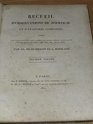 Recueil d' Observations De Zoologie et d': De Humboldt, Al