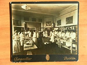Professional Photograph of a Large Kitchen with About 20 staff Doing their Chores Dublin Circa 18...