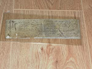 Manuscript writ of Injunction Signed By each of the Authors Relating to Lands Granted to Thomas ...