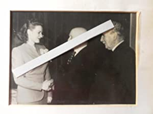 Professional Photograph: Maureen O'Hara Shaking Hands with Pat the Cope Gallagher with Michael O'...