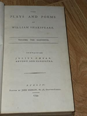 The Plays and Poems of William Shakespeare.: Shakespeare, William