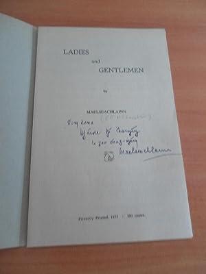 Ladies and Gentlemen: Maelseachlainn (C. F.