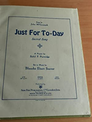 Just for To-day/Abide With Me/Lead, Kindly Light/The: McCormack, John. Lyte,
