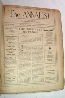 The Annalist: A Journal of Finance, Commerce and Economics, 1930 (entire year of 52 issues bound ...