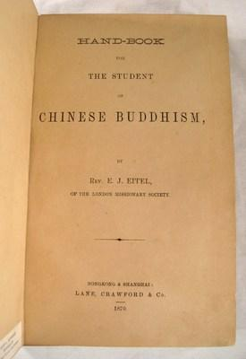 Hand-Book for the Student of Chinese Buddhism: Eitel, Rev. E.J.