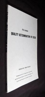 Quality Determination of Seeds: Lobanov, V. Ya.