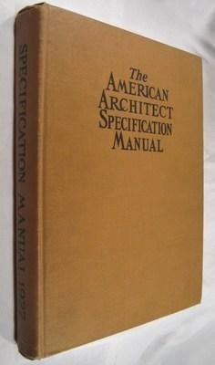 The American Architect Specification Manual, Volume 9