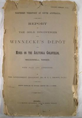 Report on the Gold Discoveries near Winnecke's: Brown, H. Y.
