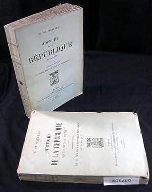 Histoire de la Republique 1876-1879 (Two Volume Set): Marcere, M. de