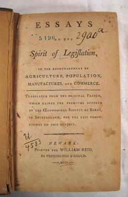 Essays On The Spirit Of Legislation: In The Encouragement Of Agriculture, Population, Manufactures,...