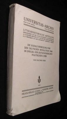 Die Soziale Bewegung Vor Der Deutschen Revolution 1848 Im Spiegel Der Zeitgenossischen Politischen ...